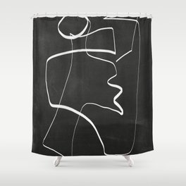 Abstract line art 6/2 Shower Curtain