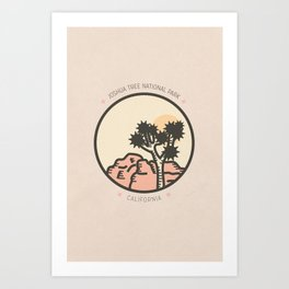 Icons: Joshua Tree One Art Print