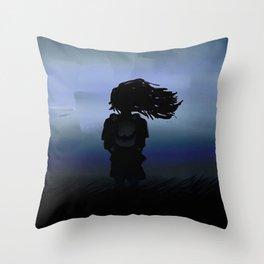 Night Air - Digital Painting Throw Pillow