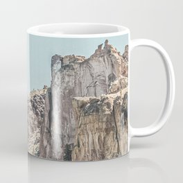 Vintage Smith Rock State Park // River and Rocks Scenic Hiking Landscape Photograph Coffee Mug