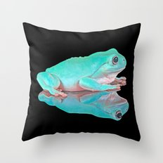 FROG REFLECTIONS Throw Pillow