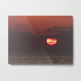 Sunset over the Carribean Metal Print