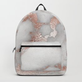Rose Gold Marble Backpack