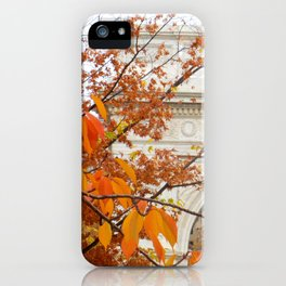 Fall in Washington Square Park, NYC iPhone Case