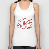 foxes Tank Tops featuring Foxes by Kit Seaton