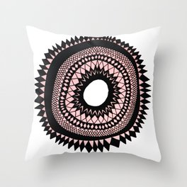 Patterned Sunset Throw Pillow