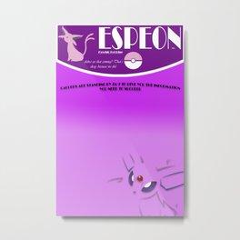 Espeon wall poster Metal Print