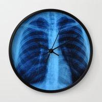 medical Wall Clocks featuring x ray medical radiography by tony tudor