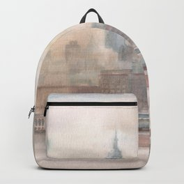 2019 Watercolor New York City Series 004 Watercolor Painting Backpack