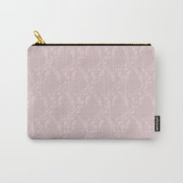 Modern mauve pink girly geometrical floral Carry-All Pouch