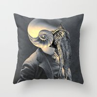 marine Throw Pillows featuring MARINE by Julia Lillard Art