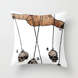 The Five Dancing Skulls Of Doom Throw Pillow