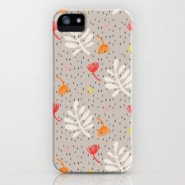 Desert leaves iPhone Case