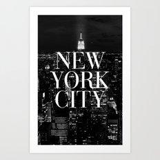 New York City Vogue Typography Manhattan Skyline Art Print