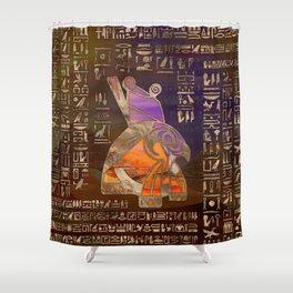 Egyptian Horus Mixed Media Digital Art Shower Curtain