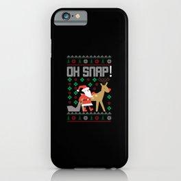 Uglysweater Oh Snap Reindeer Santa Claus iPhone Case