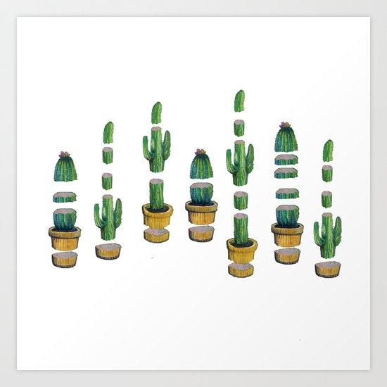 cut cactus Art Print