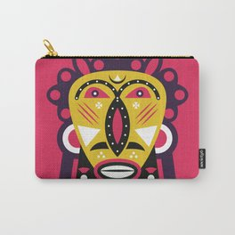African Kuba Face Mask Carry-All Pouch