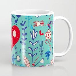 Scandi folk floral Coffee Mug