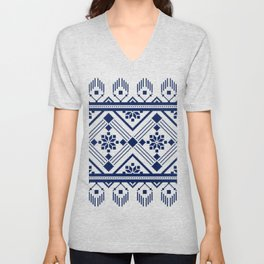 ethnic pattern Unisex V-Neck