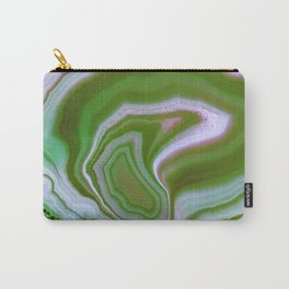 green colored agate Carry-All Pouch