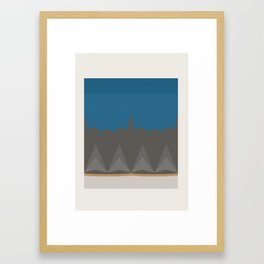Geometric Urban Skyline Print Framed Art Print