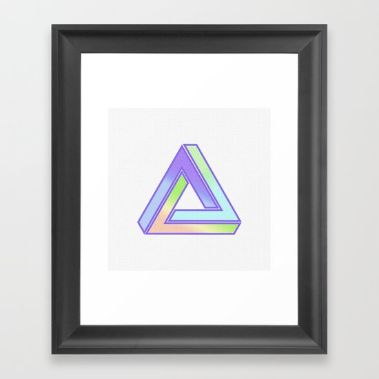 Time is an Illusion Framed Art Print
