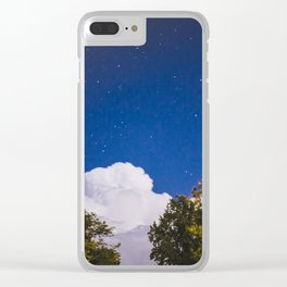 Sweet Dreams - Big White Cloud - Night Sky Stars Night Photography Clear iPhone Case