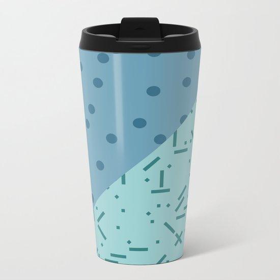 Geometry Blocks 9 Metal Travel Mug