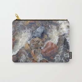 River rocks and rushing water Carry-All Pouch