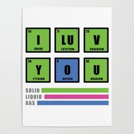 Love is chemistry Poster