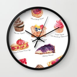 Cakes & Pastries #1 Wall Clock