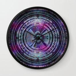 Hunab Ku Mayan Purple and Blues Wall Clock