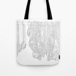 Happy Five Yen Coins - Line Art Tote Bag