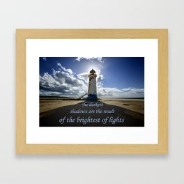 Talacre lighthouse quote Framed Art Print
