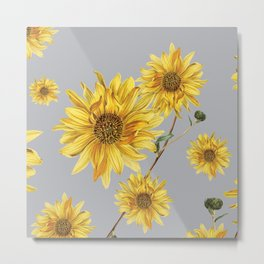 Sunflower Pattern 5 Metal Print