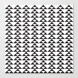 Triangle Motif - B&W Canvas Print