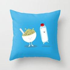 Cereal & Milk  Throw Pillow