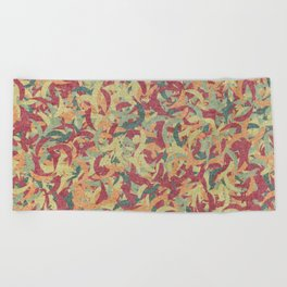 Seamless Colorful Geometric Pattern #01 Beach Towel