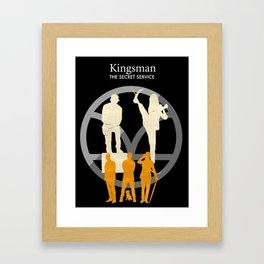 Kingsman- The Secret Service Minimalist Poster Framed Art Print