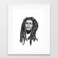 marley Framed Art Prints featuring Marley  by Icon Ink