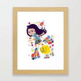 Let's roll! Girl Roller Skater! Framed Art Print