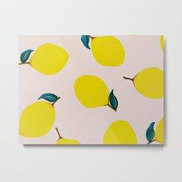 Lemons Metal Print