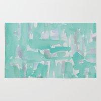 aqua Area & Throw Rugs featuring Aqua by Georgiana Paraschiv