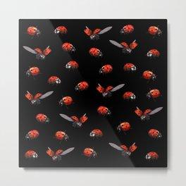 Ladybug at Night Metal Print