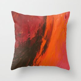Abstract Wine by Robert S. Lee Throw Pillow