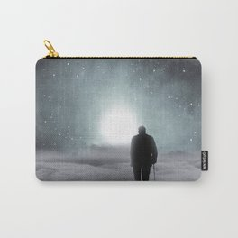 Old Man Walking Towards Heaven Carry-All Pouch