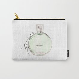 Green parfum with girl Carry-All Pouch