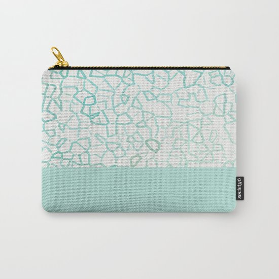 Abstract on Turquois Carry-All Pouch