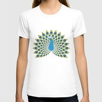 peacock T-shirts featuring Peacock by tuditees